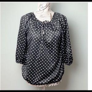 Polka dot vintage top
